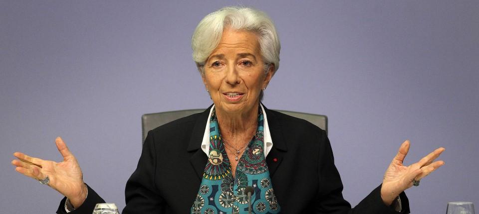 EZB-Präsidentin Christine Lagarde: Zinsentscheid mit einem Lächeln