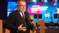 BDi-Präsident Siegfried Russwurm auf der Hannover Messe in diesem Jahr