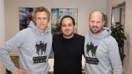 Florian Borns, Gregory Grund, Jörg Schüler (von links)