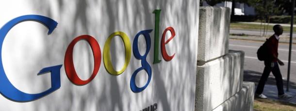 Eingang zur Google-Zentrale in Kalifornien