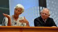 Auf der Tagesordnung: Sticheleien zwischen IWF-Chefin Christine Lagarde und Bundesfinanzminister Wolfgang Schäuble