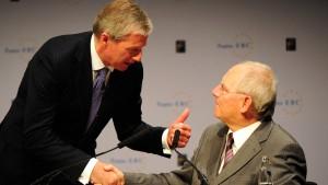Schäuble und Fitschen vertragen sich wieder