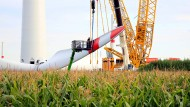 Montage eines Wind-Rotors in Sachsen-Anhalt.