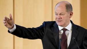 Scholz kündigt Steuerentlastung für kleine Unternehmen an