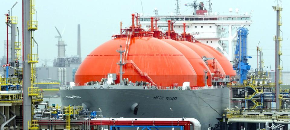 In Rotterdam steht ein europäisches Terminal für Flüssiggas.