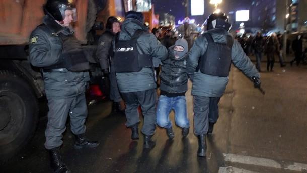 Hunderte Festnahmen bei Anti-Putin-Protesten