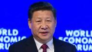 Xi Jinping ist der erste chinesische Staatschef, der auf dem Weltwirtschaftsforum in Davos spricht.