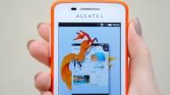 Smartphone mit Firefox-Betriebssystem