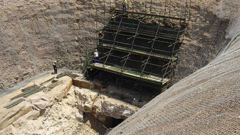 Eine Kohlenmine von Rio Tinto in Südafrika