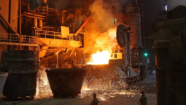 ArcelorMittal Stahlwerk in Hamburg
