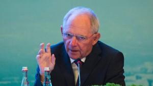 Schäuble für globale Finanzsteuer