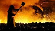 Stahlarbeiter in Salzgitter.