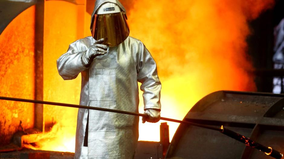 Um deutschen Stahl machen Amerikaner ein neues Fass im Handelsstreit auf.