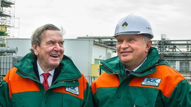 Schröder, Setschin und Putins Öl