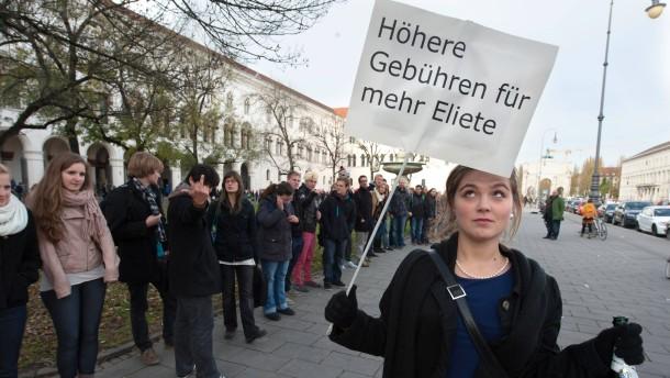 Demonstration gegen Studiengebühren