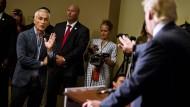Keine Freunde: Donald Trump und Univision-Reporter Jorge Ramos