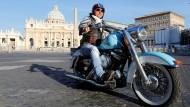 Wichtiger Absatzmarkt: ein Biker in Rom