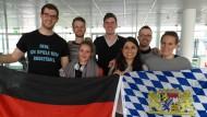 Das Münchener Studierenden-Team auf seinem Weg zum Moot Court in Washington.
