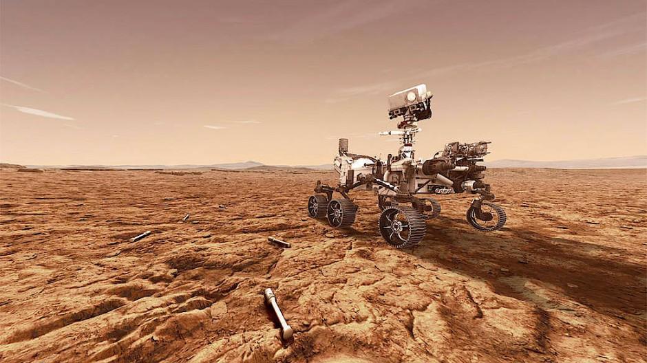 """Die Mission """"Mars 2020"""" ist der fünfte Auftritt der Nasa auf dem Roten Planeten. Der Star der Veranstaltung ist der Rover namens """"Perseverance""""."""