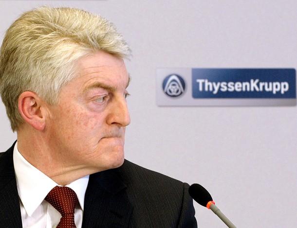 Konzernchef <b>Heinrich Hiesinger</b>: Durch den Umbau soll die Verschuldung des ... - konzernchef-heinrich-hiesinger