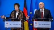 """Wirtschaftsministerin Zypries und ihrem französischen Kollegen Sapin schwebt ein """"europäischer Champion"""" vor."""