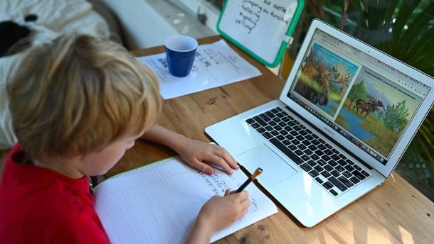 Mathestunde am Laptop