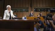 Muss regelmäßig auch vor dem amerikanischen Kongress Rede und Antwort stehen: Notenbankchefin Janet Yellen
