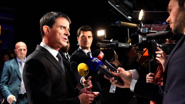 Französischer Präsidentschaftskandidat Valls droht Trump