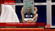 Erdogan im Sender CNN Türk - zugeschaltet per Facetime vom Handy aus.