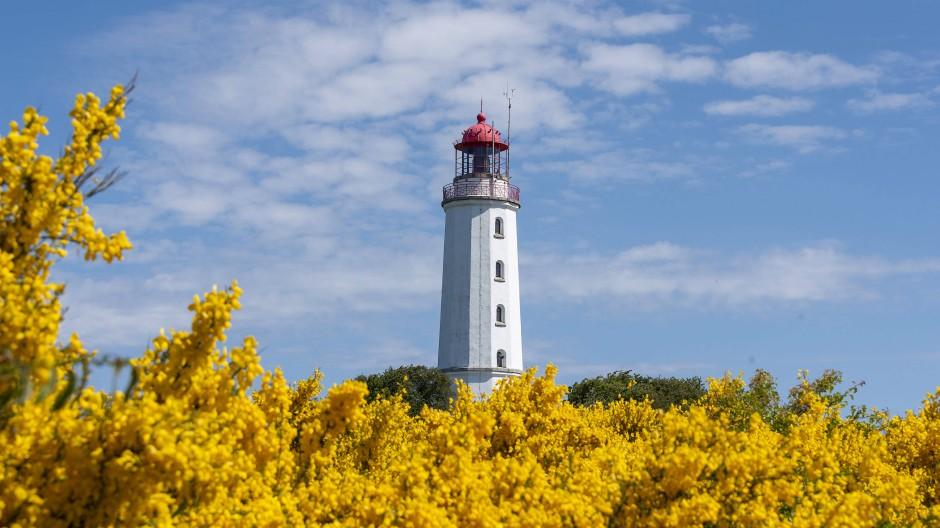 Leuchtturm auf Hiddensee: Mecklenburg-Vorpommern ist für Urlauber noch nicht offen.