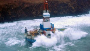 Shell oil rig ran aground