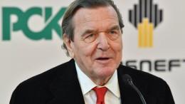 Regierung lehnt Sanktionen gegen Schröder ab