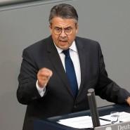 Sigmar Gabriel im Juni 2019 bei einer Rede im Bundestag