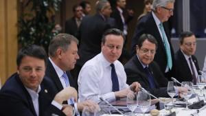 EU und Cameron sind sich einig