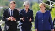 Wie geht's weiter mit der EU? Macron, May und Merkel kürzlich in Sofia