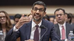 Google-Chef Pichai muss sich vor dem Kongress rechtfertigen