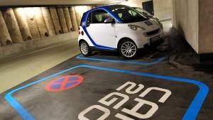Kostenloses Parken für Carsharing-Autos