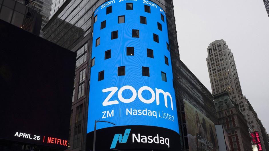 Im April 2019 ging Zoom in New York an die Tech-Börse Nasdaq.