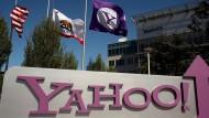 Am Yahoo-Hauptquartier im kalifornischen Sunnyvale: Der Internet-Pionier will durch Verkäufe Milliarden einnehmen.