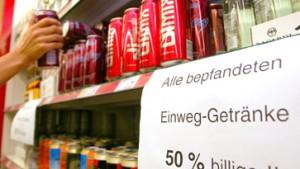 Einzelhandel verzichtet auf Einweggetränke