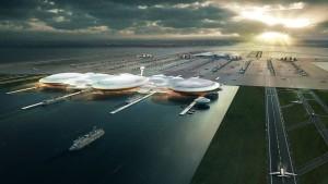 So könnte ein Londoner Insel-Flughafen aussehen