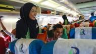 Hat wieder ihre Lizenz verloren: die malaysische islamische Fluggesellschaft Rayani Air.