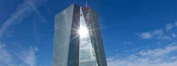 Der Neubau der Europäischen Zentralbank in Frankfurt
