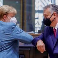 Angespanntes Verhältnis: Kanzlerin Merkel und Ungarns Premier Orban während des EU-Gipfels Anfang Oktober in Brüssel.
