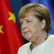 Bundeskanzlerin Angela Merkel während des Videogipfels mit Chinas Präsident Xi Jinping