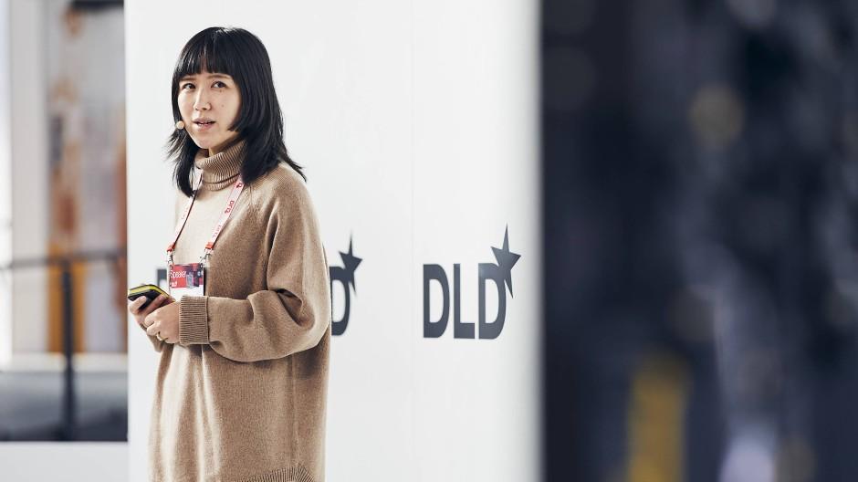 Mobike-Gründerin Hu Weiwei am Samstag auf der Tech-Konferenz DLD in München