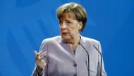 Merkel will sich für deutsche Arbeitsplätze einsetzen