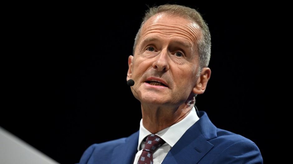 Volkswagen-Chef Herbert Diess auf der diesjährigen Automobilmesse IAA in München