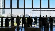 """Blick auf die """"Digital City"""": Besucher bestaunen Samsungs Campusgelände in Suwon, wo vor allem geforscht und entwickelt wird."""