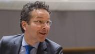 Hofft offiziell immer noch auf einen Abschluss der Prüfung bis zum nächsten Treffen der Eurofinanzminister: Eurogruppen-Chef Jeroen Dijsselbloem.
